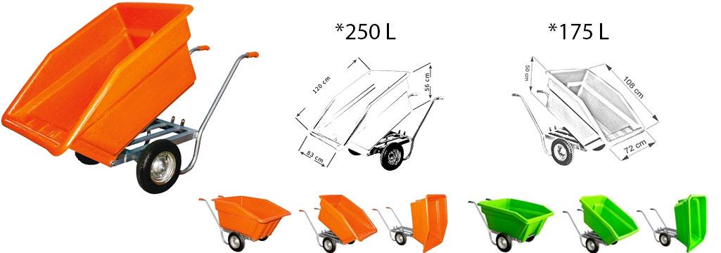 Wheelbarrow for dairy farms